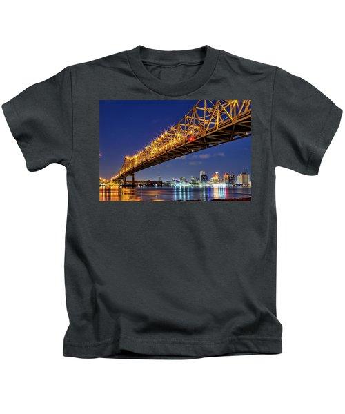 The Crescent City Bridge, New Orleans  Kids T-Shirt