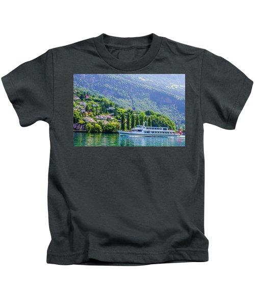 Cruising Lake Lucerne Kids T-Shirt
