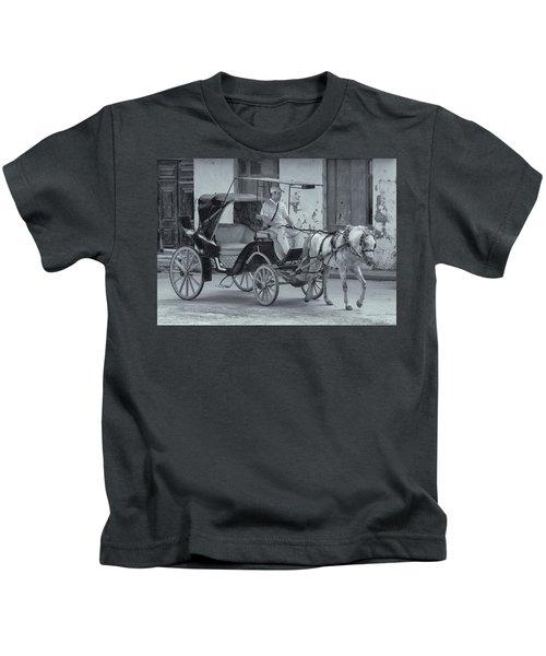Cuban Horse Taxi Kids T-Shirt