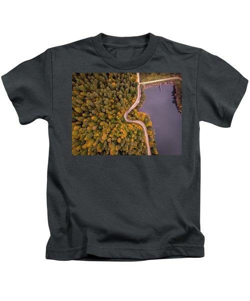 Curved Road At Lakeside Kids T-Shirt