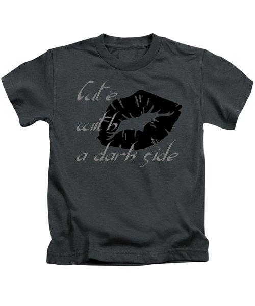 Cute With A Dark Side Gothic Valentine Kids T-Shirt