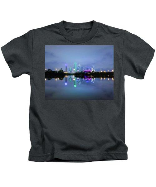 Dallas Cityscape Reflection Kids T-Shirt
