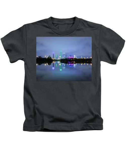 Dallas Cityscape Reflection Kids T-Shirt