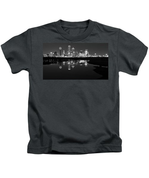Dallas Texas Cityscape Reflection Kids T-Shirt