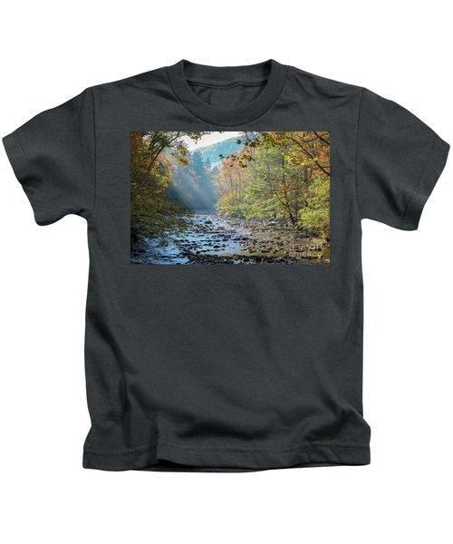 Dawn At Metcalf Bottoms Kids T-Shirt