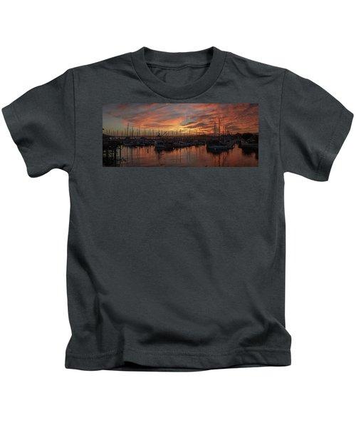 Dawn Monterey Bay California Kids T-Shirt