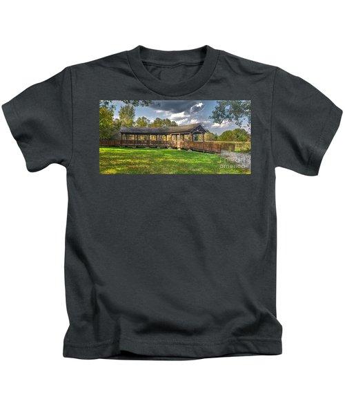 Deck At Pickerington Ponds Kids T-Shirt