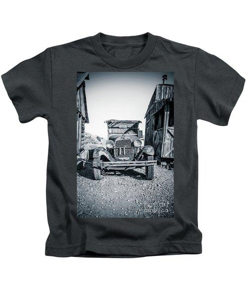 Depression Era Dust Bowl Car Kids T-Shirt