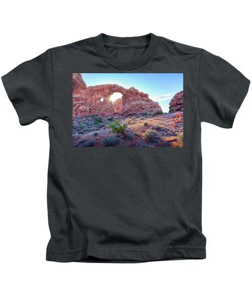 Desert Sunset Arches National Park Kids T-Shirt