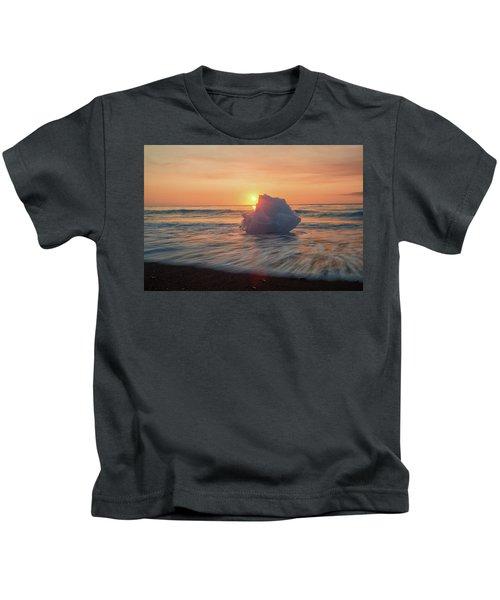 Diamond Beach Sunrise Iceland Kids T-Shirt