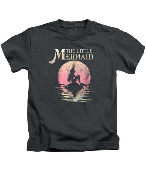 Disney The Little Mermaid Ariel Rock Moon Silhouette T-shirt Kids T-Shirt