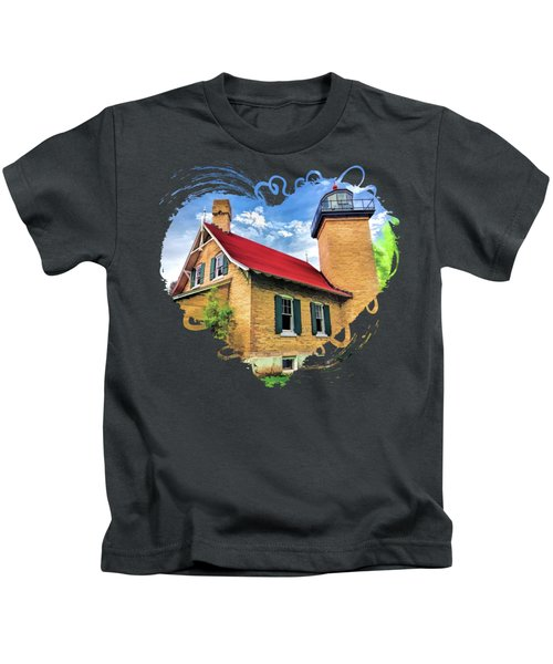 Door County Eagle Bluff Lighthouse Kids T-Shirt