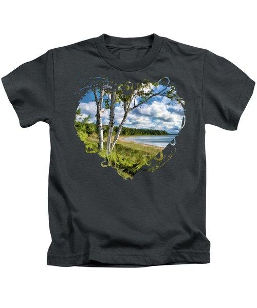 Door County Europe Bay Birch Kids T-Shirt