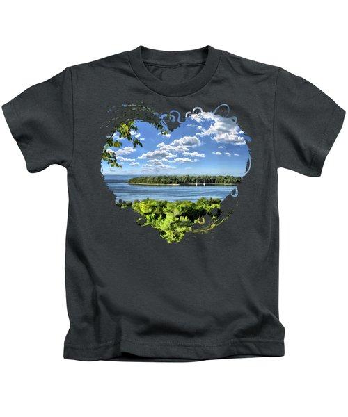 Door County Horseshoe Island Kids T-Shirt