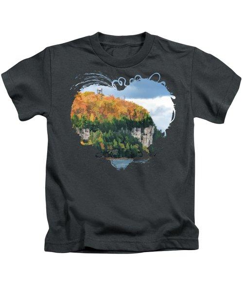 Door County Peninsula State Park Bluff Panorama Kids T-Shirt
