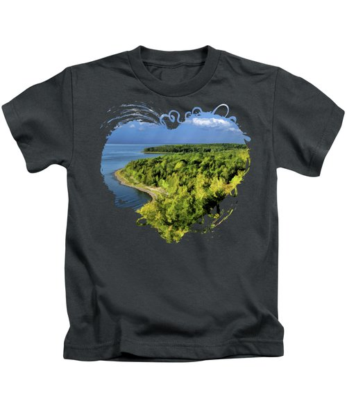 Door County Peninsula State Park Svens Bluff Overlook Kids T-Shirt