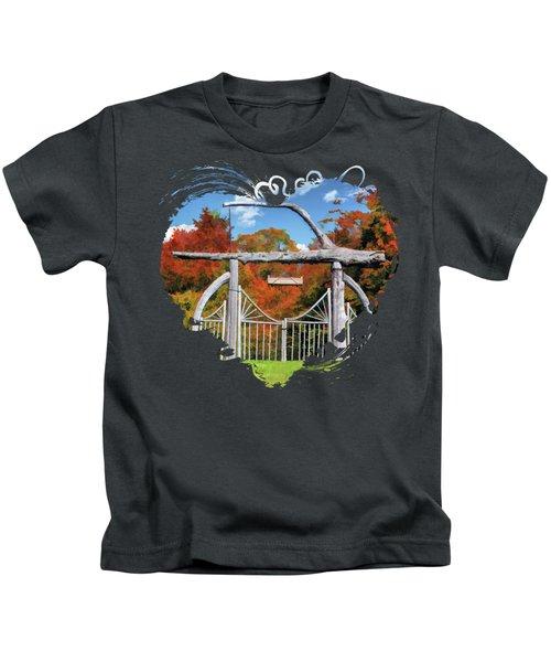 Door County Rock Island Japanese Garden Gate Kids T-Shirt