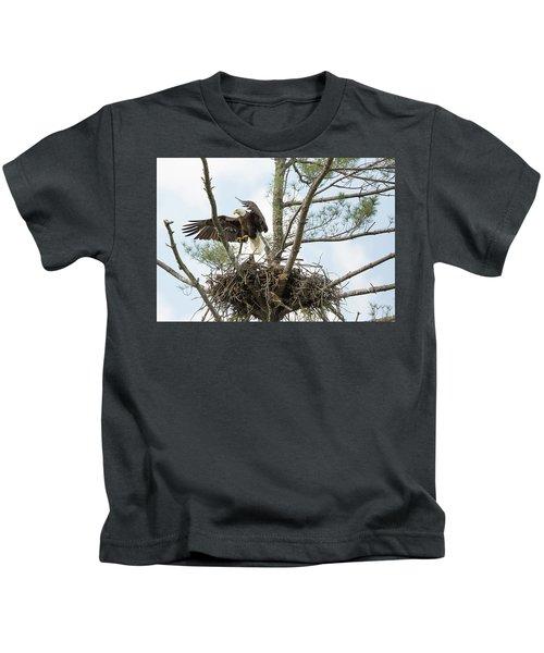 Eagle Landing Kids T-Shirt
