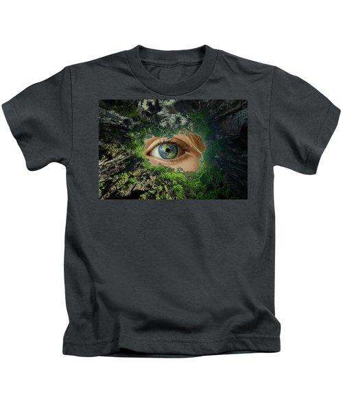 Earth Is Watching You Kids T-Shirt