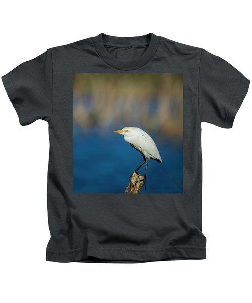 Egret On A Stick Kids T-Shirt