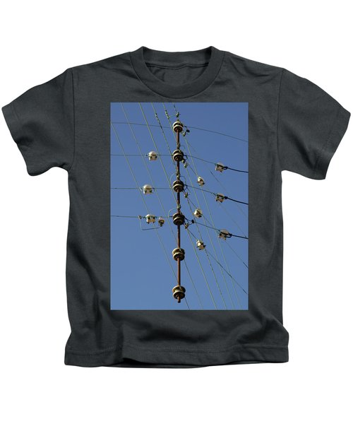 Electric Wires Junction Kids T-Shirt