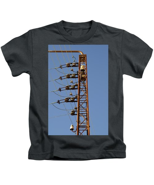 Electric Wires Pole Kids T-Shirt
