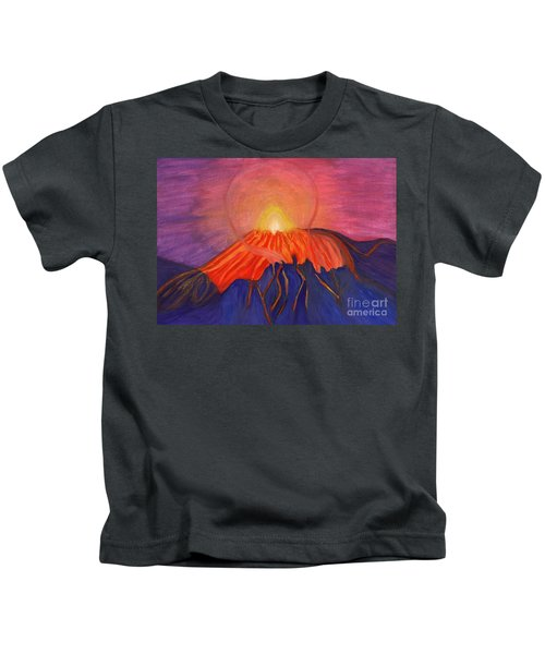 Glow Fading Volcano Kids T-Shirt