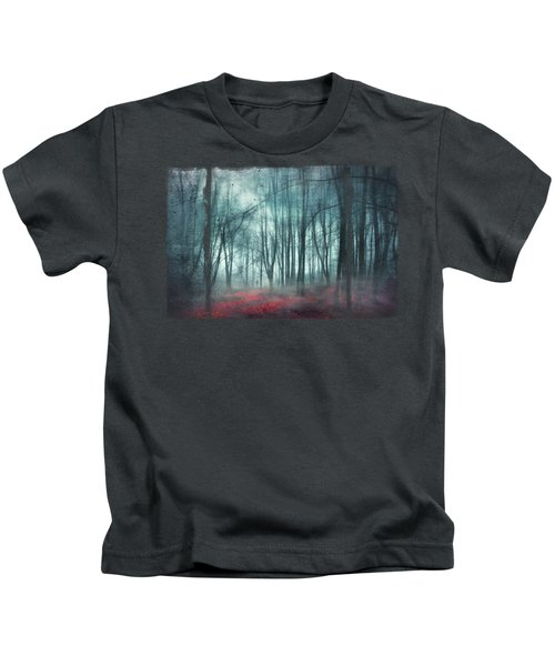 Escape Route - Misty Forest Scenery Kids T-Shirt