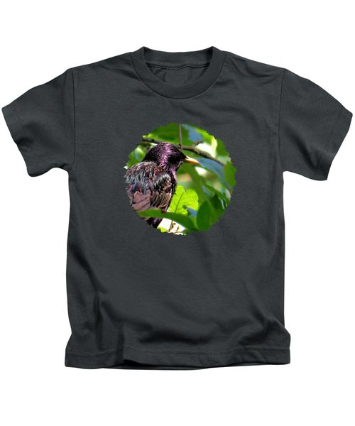 European Starling On A June Afternoon Kids T-Shirt