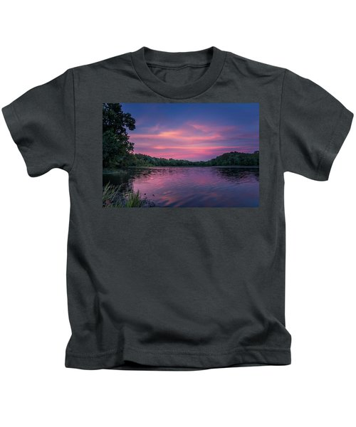 Evening At Springfield Lake Kids T-Shirt