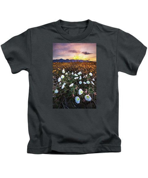 Evening With Primroses Kids T-Shirt