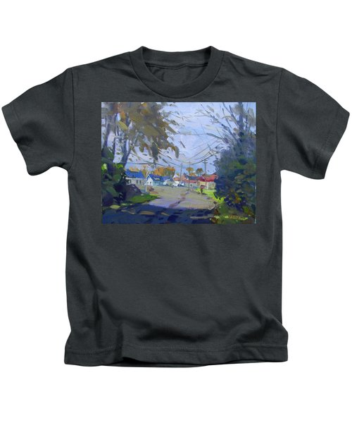 Fall Late Afternoon Kids T-Shirt