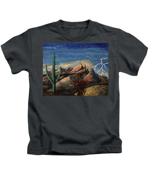 Finger Rock Lightning  Kids T-Shirt
