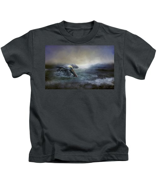 Fishing In The Storm Kids T-Shirt