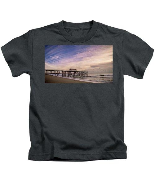 Fishing Pier Sunrise Kids T-Shirt