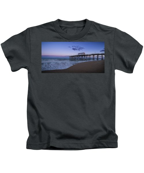 Fishing Pier Sunset Kids T-Shirt