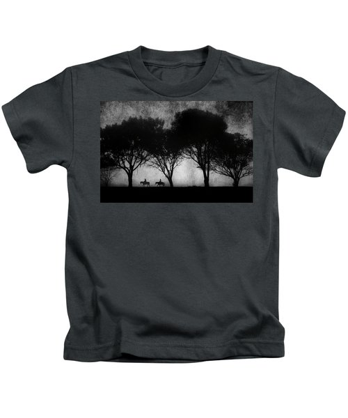 Foggy Morning Ride Kids T-Shirt