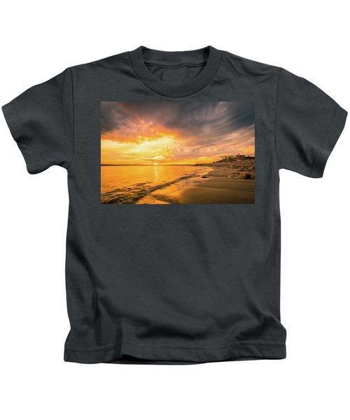 Fort Foster Sunset Watchers Club Kids T-Shirt