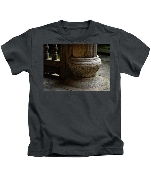 Foundation Stone Under Wooden Pole Used In Chinese Architecture Kids T-Shirt