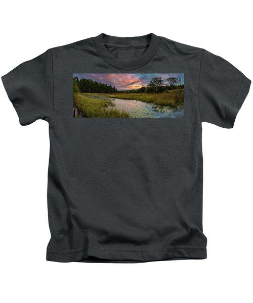Friendship Panorama  Sunrise Landscape Kids T-Shirt