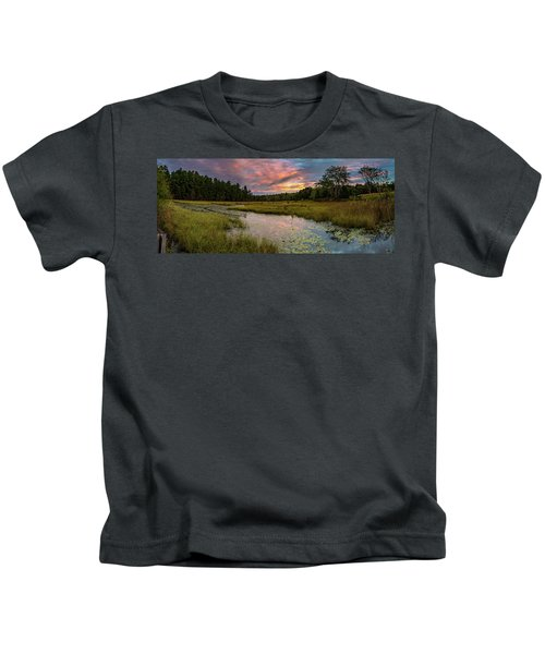 Friendship Panorama  Sunrise Landscape Kids T-Shirt