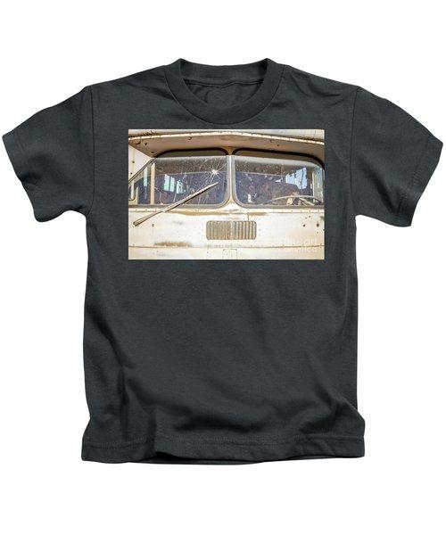 Front Of An Old Bus In A Junkyard Kids T-Shirt