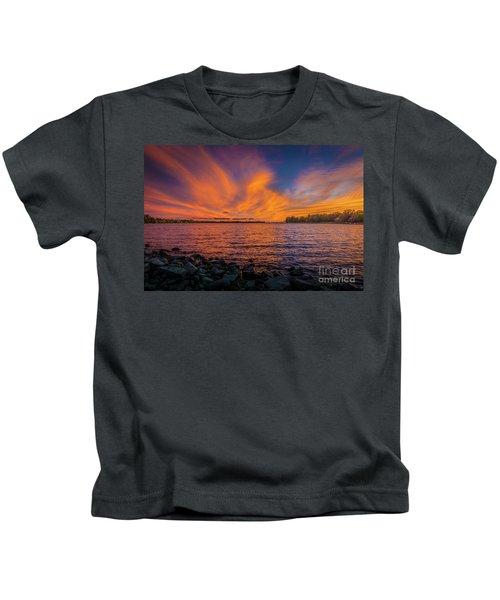 Frontenac Ferry Sunset Kids T-Shirt