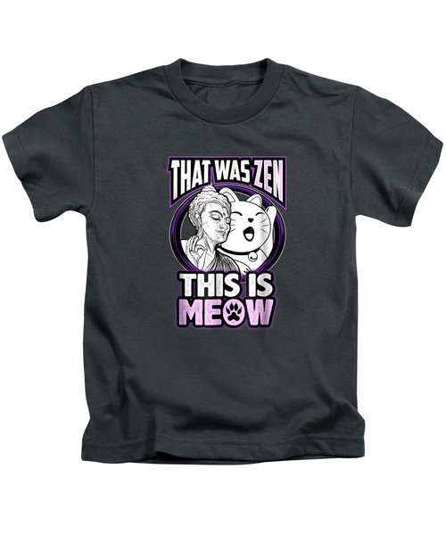 Funny Cat Yoga T-shirt That Was Zen This Meow Meditate Kitty Kids T-Shirt