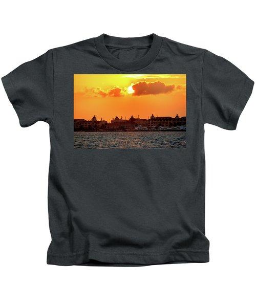 Golden Sky In Cancun Kids T-Shirt