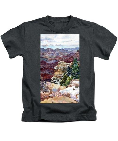 Grand Canyon Winter Day Kids T-Shirt