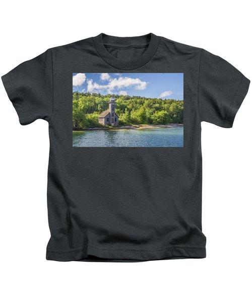 Grand Island East Channel Lighthouse Kids T-Shirt