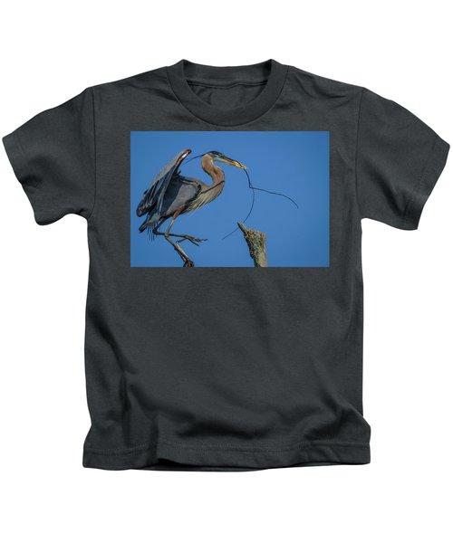 Great Blue Heron 4034 Kids T-Shirt