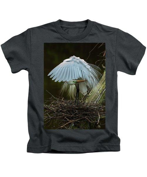Great Egret Beauty Kids T-Shirt