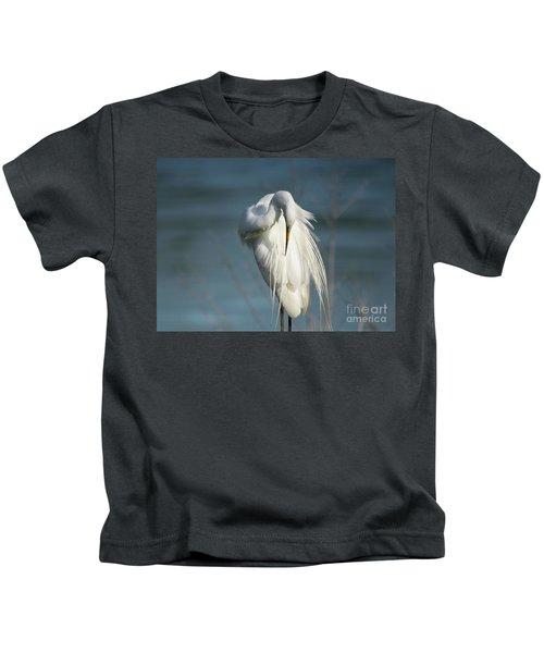 Great Egret Kids T-Shirt